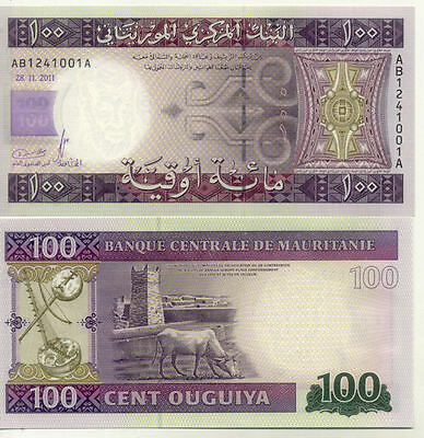 Billet Banque Mauritanie Mauritania 100 Ouguiya 2011 Neuf New Unc