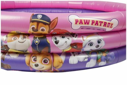 PAW Patrol Pink 3 Ring Swimming Inflatable Pool Kids Water Fun Swimming Acessory