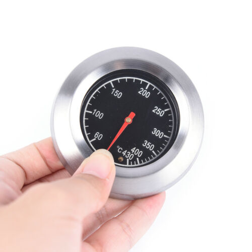60-430℃ BBQ Smoker Grill  Steel Barbecue Thermometer Temperature Gauge IU
