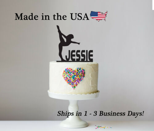 Sports Cake Topper Personalized Birthday Keepsake-LT1189 Cheer Gymnastics