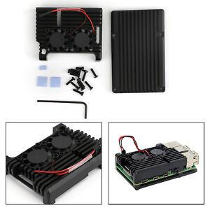 Dernier-bo-tier-en-alliage-d-039-aluminium-CNC-avec-ventilateur-pour-Raspberry-Pi-4B