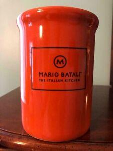Details About Mario Batali Italian Kitchen Utensil Crock Persimmon Orange Copco Stoneware