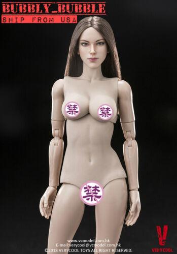 VERYCOOL 1/6 FX07 B Female Figure with Brown Hair Head Sculpt Full Set ☆USA☆