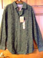 Northwest Territory Green Black Camouflage Button-down Shirt Mens L