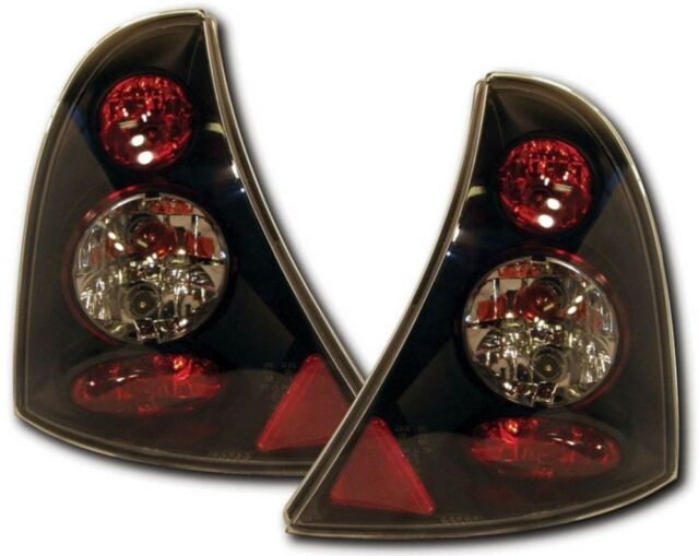 RENAULT CLIO MK2 inc CAMPUS (98-08) REAR LEXUS TAIL LIGHTS - BLACK