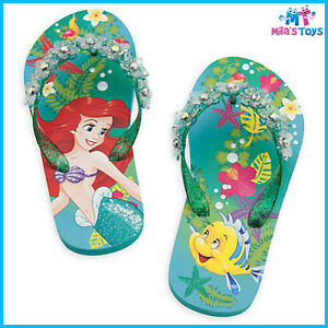 ec0fa9839994b Disney The Little Mermaid Ariel Flip Flops Thongs for Kids Size 7-10 ...