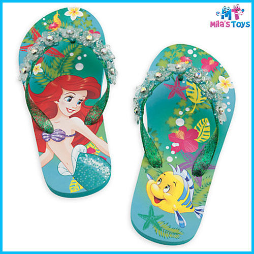 0235ab420c7 Genuine Disney The Little Mermaid Ariel Flip Flops Thongs for Kids Size  7-10 brand new