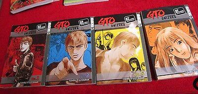 GTO Great Teacher Onizuka Volumes 1, 2, 4, 6 Manga Kage-Donbo Tokyo Pop comics