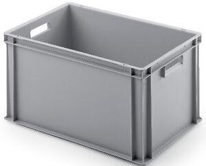 stapelkisten eurobeh lter lagerbox transportkisten kunststoffbeh lter 60x40x32cm ebay. Black Bedroom Furniture Sets. Home Design Ideas