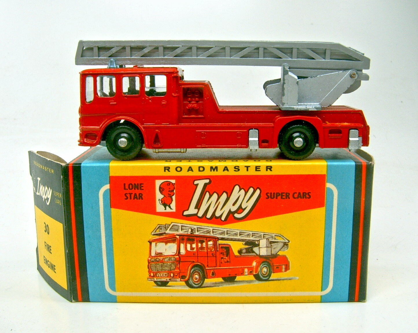 Lone Star Impy no. 30 Merryweather Fire Engine rojo IN BOX