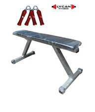 LYCAN BEST QUALITY BLACK WEIGHT LIFTING FLAT BENCH + FREE HAND GRIP