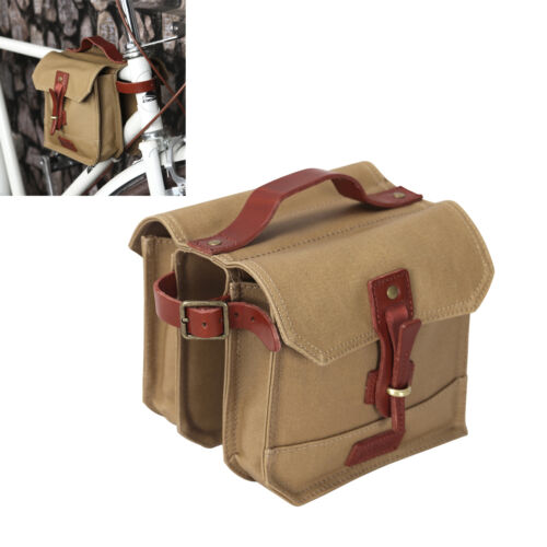 Tourbon Bike Frame Bag Double Pannier Cycling Tube Saddle Pouch Bicycle Front US