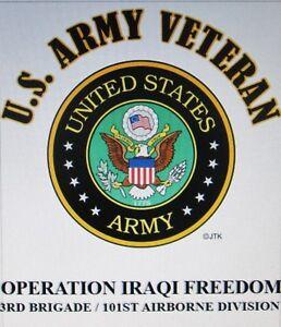 OPERATION IRAQI FREEDOM*3RD BRIGADE /101ST AIRBORNE DIVISION W/ARMY EMBLEM*SHIRT
