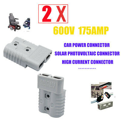 1 PC Quick Connect Plug 175A 600V Battery Connector Adapter Plug Winch Connector