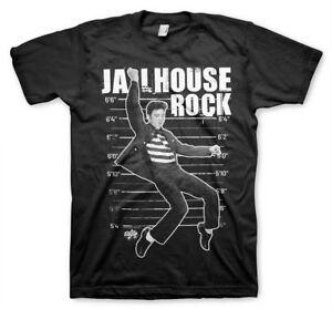 Elvis-Presley-Jailhouse-Rock-The-King-Rock-N-Roll-Maenner-Men-T-Shirt