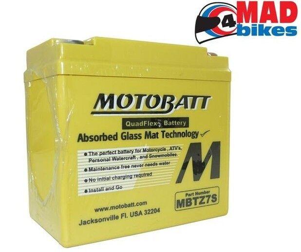 MOTOBATT MBTZ7S Upgrade Battery, Honda CBR1000RR Fireblade 2008 to 2016