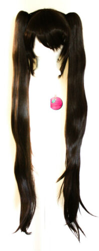 Base Chocolate Brown Cosplay Wig NEW 40/'/' Wavy Pig Tails