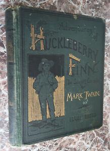Adventures-of-Huckleberry-Finn-by-Mark-Twain-1888-First-Edition-Samuel-Clemens