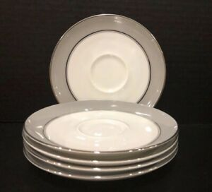 Vtg-MAJESTIC-By-EASTERLING-CHINA-Set-Of-5-Saucers-From-Bavaria-Germany-EUC
