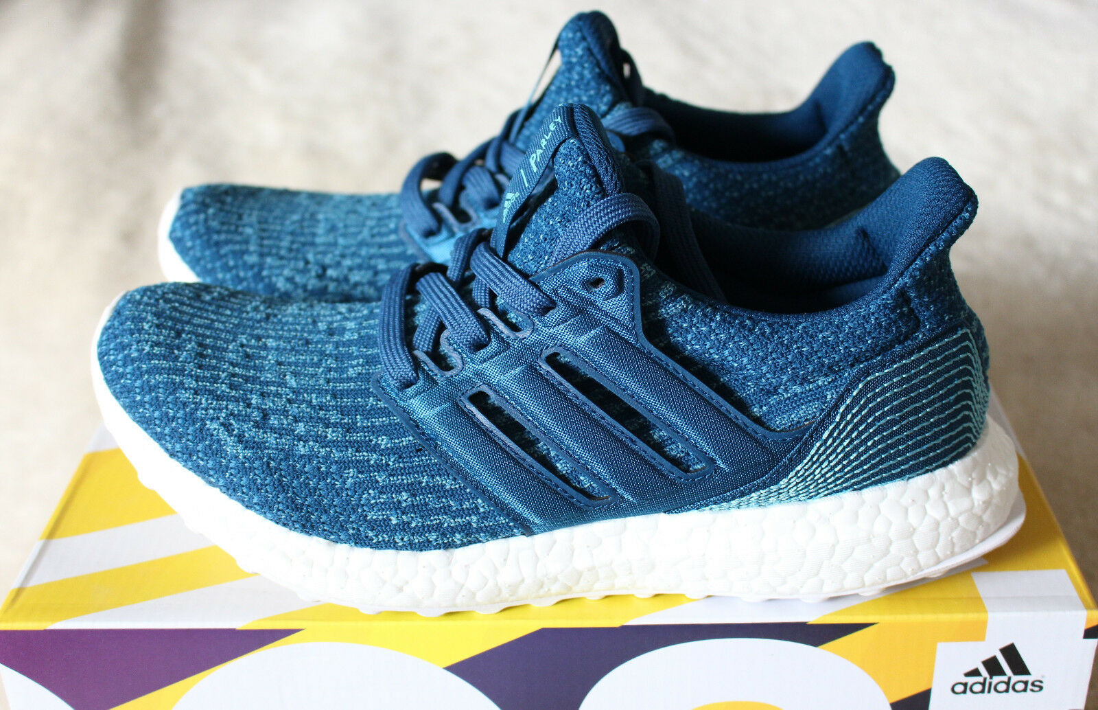 New Adidas Ultra Boost 3.0 Parley Ocean Trainers Limited Carbon Blue US 8