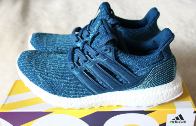 56aedce06 New Adidas Ultra Boost 3.0 Parley Ocean Trainers Carbon Blue UK 7.5 US 8 41  1