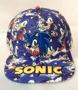 Image is loading Sonic-The-Hedgehog-Adjustable-Baseball-Cap-Hip-Hop- cb826d17f9e7