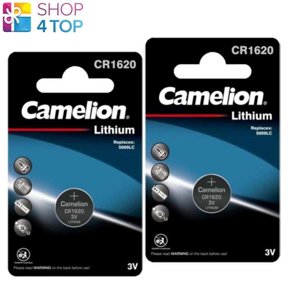 2 Camelion CR1620 Batteries Lithium 3V Coin Cell DL1620 BR1620 1BL Exp 2028 New