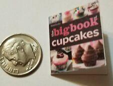 Miniature dollhouse Martha Stewart Cook Book Barbie 1/12 Scale  Baking Cup cakes