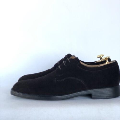 Salvatore Ferragamo Brown Suede Derby Shoes Mens S