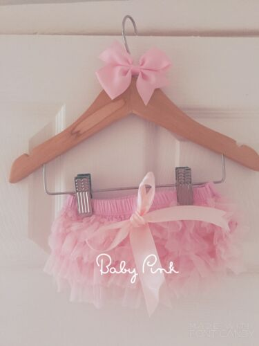 Deluxe Girls Baby Frilly Tutu Knickers Cake Smash Photoshoot 1st Birthday Outfit