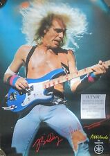 "BILLY SHEEHAN YAMAHA ""ATTITUDE"" BASS/TALAS 1980s PROMO POSTER-HEAVY METAL"