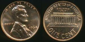 United-States-1964-One-Cent-1c-Lincoln-Memorial-Proof