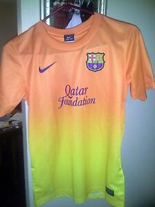 timeless design df767 ccfdd Details about FC Barcelona Replica Jersey Youth Size Large Nike Dri- Fit