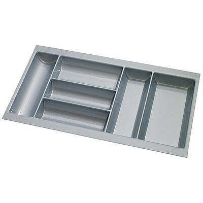 Silver Gloss Cutlery Tray for Blum Tandembox, Intivo or Antaro Kitchen Drawers