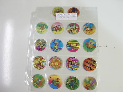 POGS COOLE CAPS BY KELLOGGS TOUCAN SAM, COCO SMACK SET OF ALL 33 AWESOME