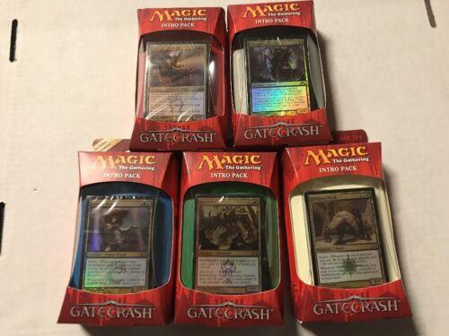 Magic The Gathering Gatecrash Intro Deck Set Of All 5 Sealed Theme MTG