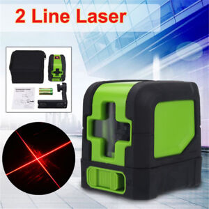 IP54-360-Rotary-2-Line-Laser-Self-Leveling-Vertical-Horizontal-Red-Measure-Kit
