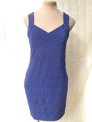 cobalt Blue Backless Bodycon Pannel Dress 8 -10 14 16 BNWT bombshell Dita Pinup