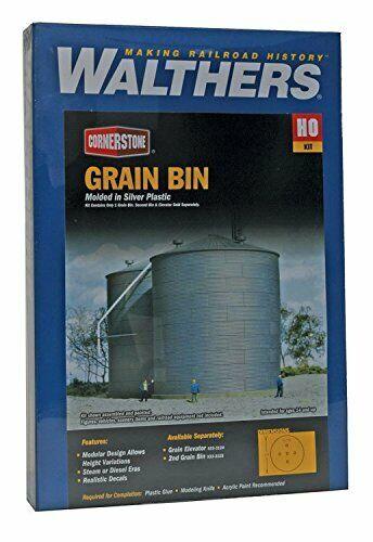 Walthers Cornerstone HO Scale Big Grain Storage Bin Structure Kit