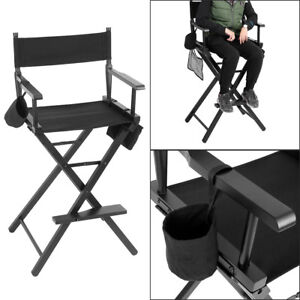 Image is loading New-Professional-Makeup-Artist-Directors-Chair-Wood-Light-