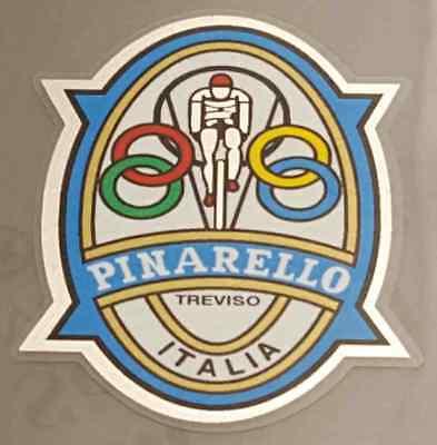 Pina701 White Rider Pinarello Head Badge Decal - Chrome Border