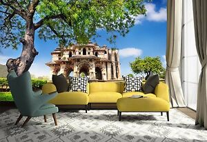 3D Ancient architecture Wall Paper Print Wall Decal Deco Indoor Wall Murals