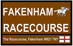 HORSE RACING  TOURIST SIGNS (FAKENHAM) - FUN SOUVENIR NOVELTY FRIDGE MAGNET GIFT