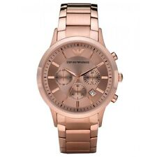 Original ARMANI AR2452 CLASSIC ROSE GOLD COLOUR WATCH.NEW.STEEL STRAP