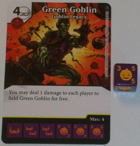 GOBLIN LEGACY 120//142 The Amazing Spider-Man Dice Masters Rare GREEN GOBLIN