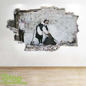 Banksy Adesivo Da Parete 3d Look Città Graffiti Salotto Camera Da