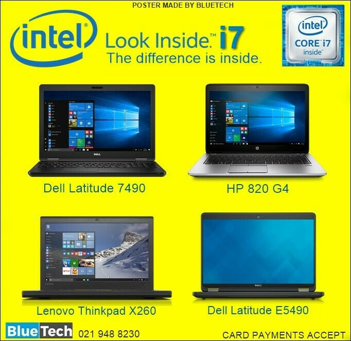 Intel Core i7 - Laptops / Notebooks - BLUETECH COMPUTERS     021 948 8230.