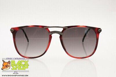 Fiducioso Blue Bay Mod. Nairobi Vintage Sunglasses, Hot Tones Metal Inserts, Wayfarer, Nos