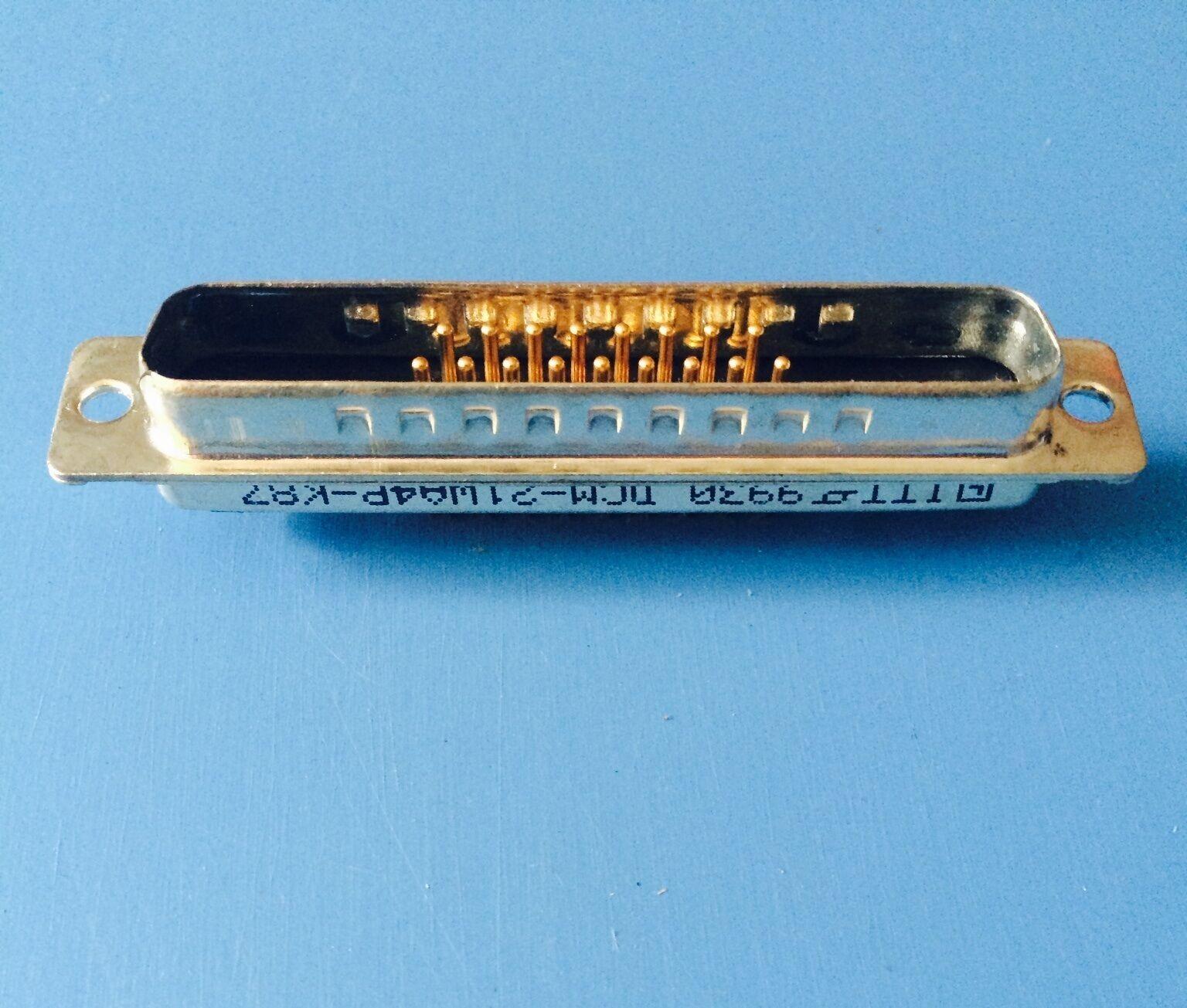 DCM-21WA4P-K87 ITT CANNON CONNECTOR D-SUB PLUG 21 POSITION PNL MNT