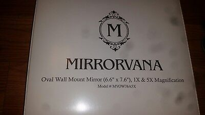 Dual-Sided 5x//1X Magnifying Mirrorvana Oval Wall Mount Bathroom Makeup Mirror